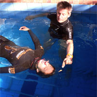 Personal coaching at Immersion freediving school